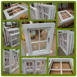 Casement windows in Hardwood, primed and ready to fit.