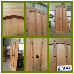 Tudor style door in Solid Oak