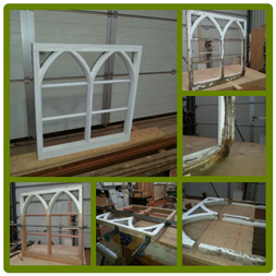 Listed Gothic Arched Window restoration.
