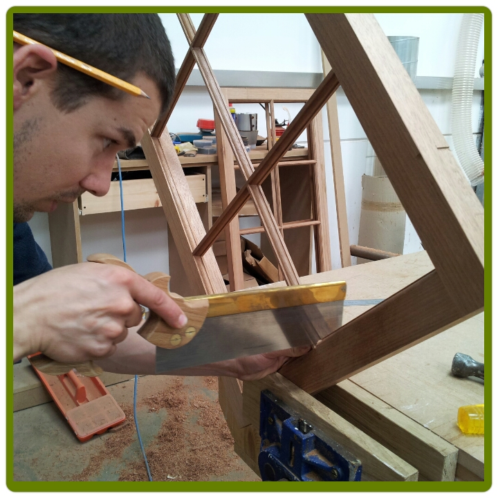 Beautifully joined and crafted window frames from taylor Made Joinery Ltd.